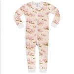 Milkbarn Milkbarn zipper PJ's Waterlily 3-6 months