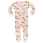 Milkbarn Milkbarn zipper PJ's Water Lillies  9-12 Months