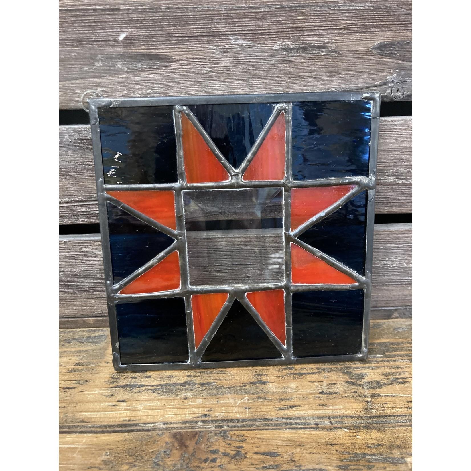 Blaine Leister Blaine Leister | 5 x 5 stained glass quilt 8 point star