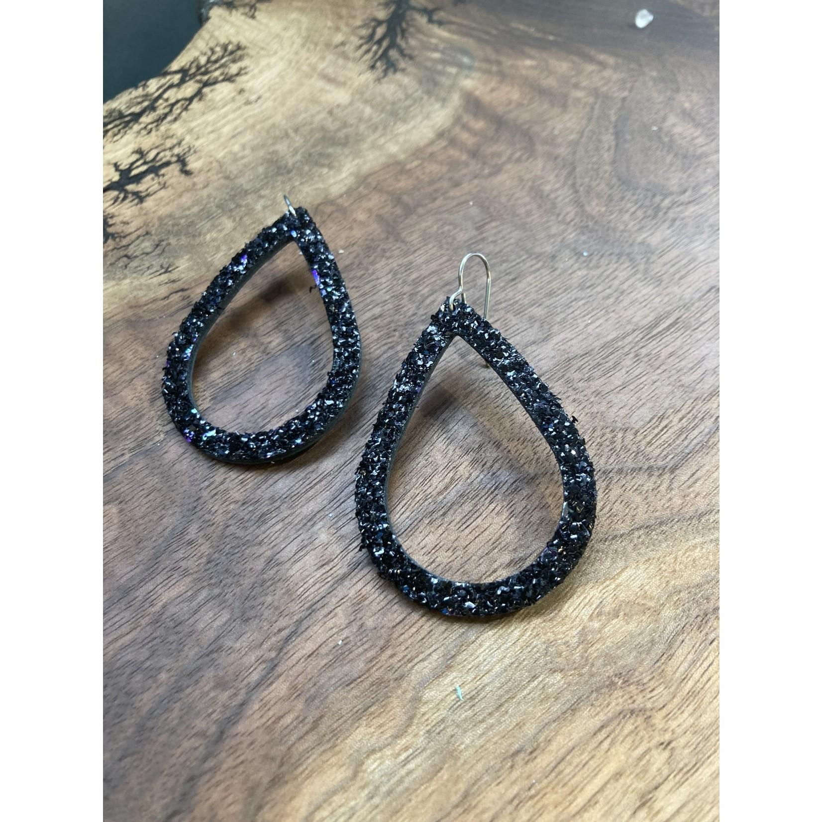molliPOPdesign MolliPOP design Black Sparkle teardrop