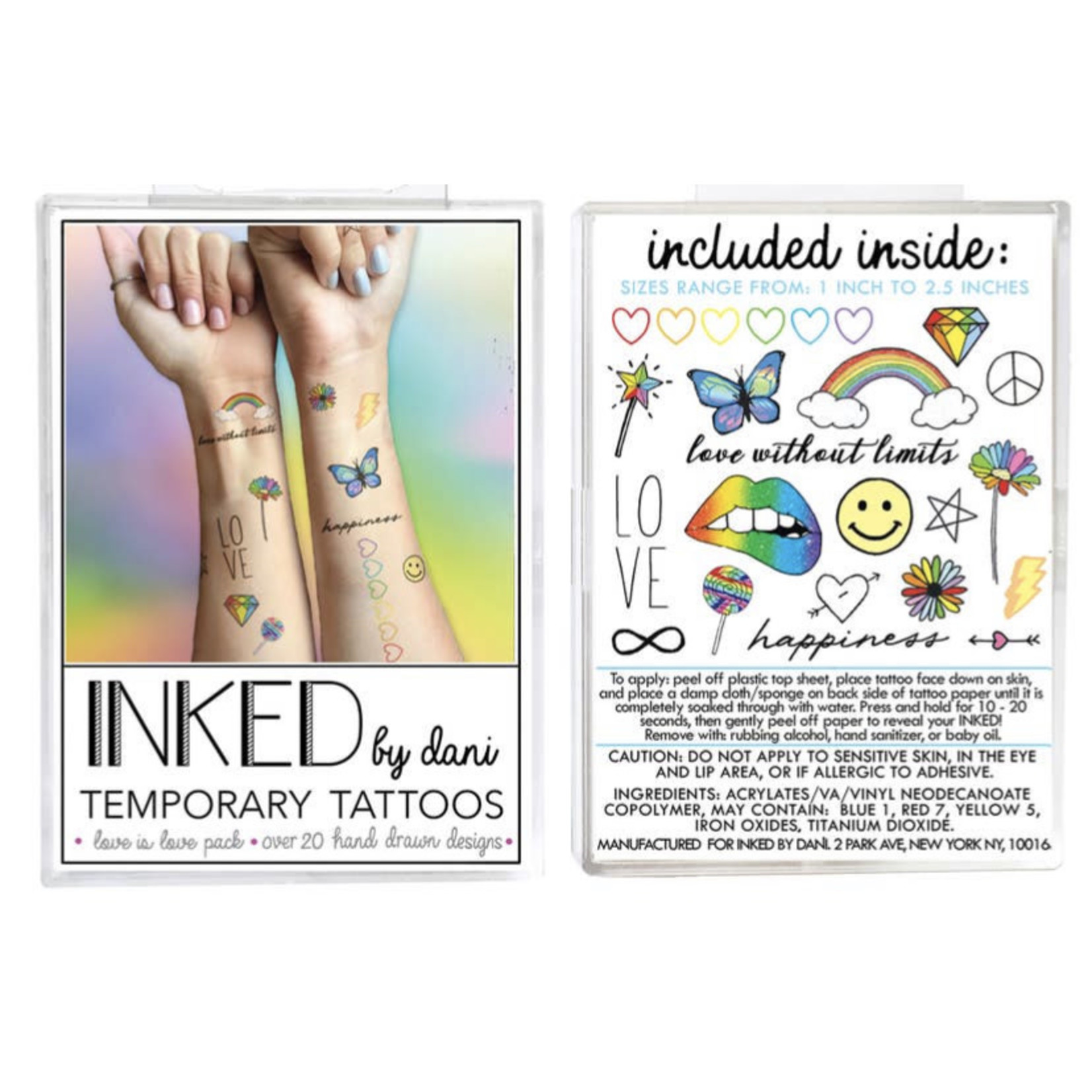 Inked by Dani INKED   Tempory tattoo pack- Love is Love