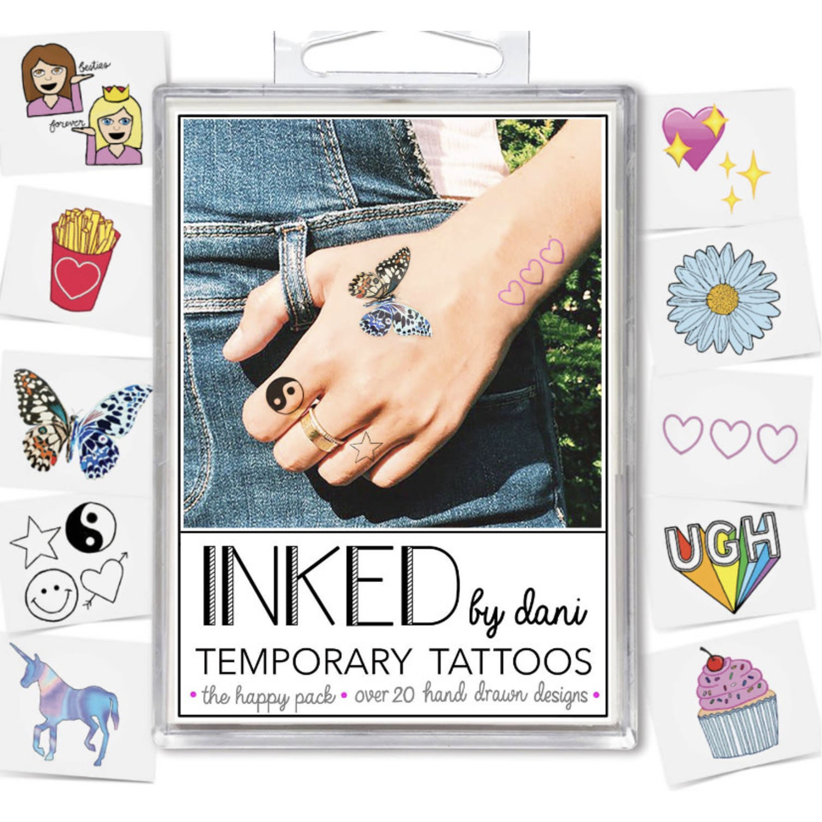 Inked by Dani INKED Tempory tattoo pack- The Happy