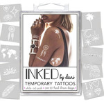 Inked by Dani INKED Tempory tattoo pack- White Out