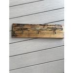 Paradoxdesignwerx Paradoxdesignwerx wood & metal wall art /3 dragonfly hooks