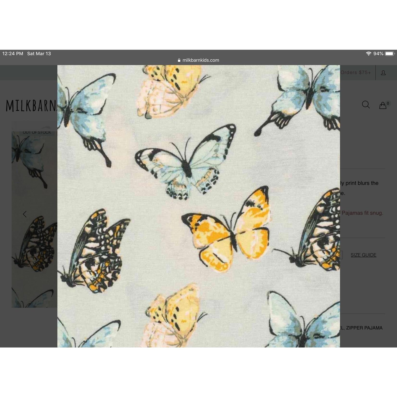 Milkbarn One piece 3-6 M Butterflies