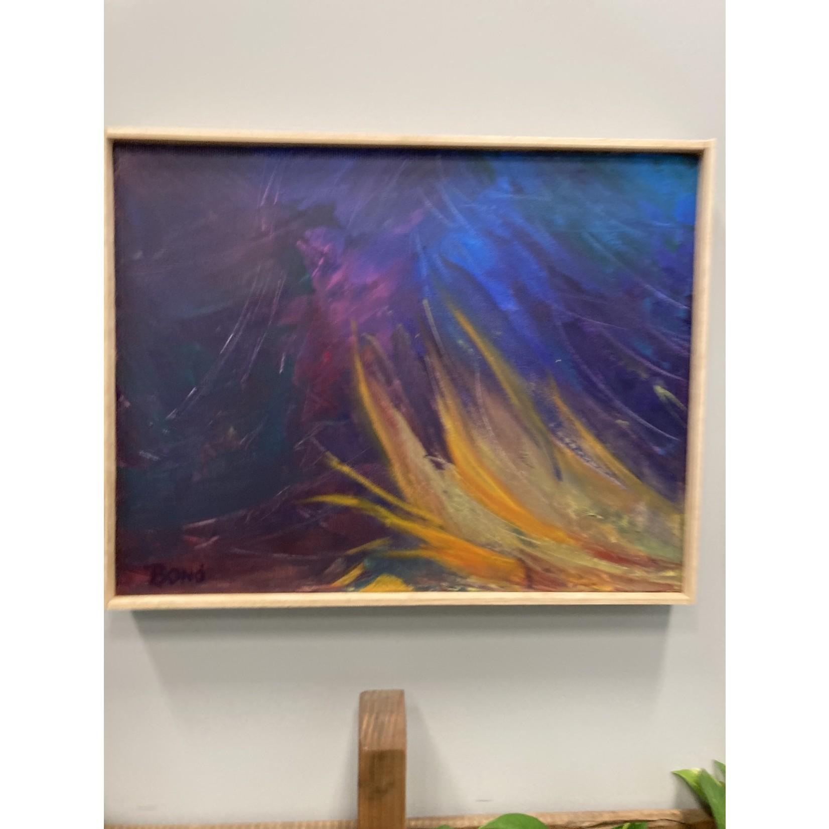 """John J Bond John J Bond Acrylic on Canvas """"Bonfire"""""""