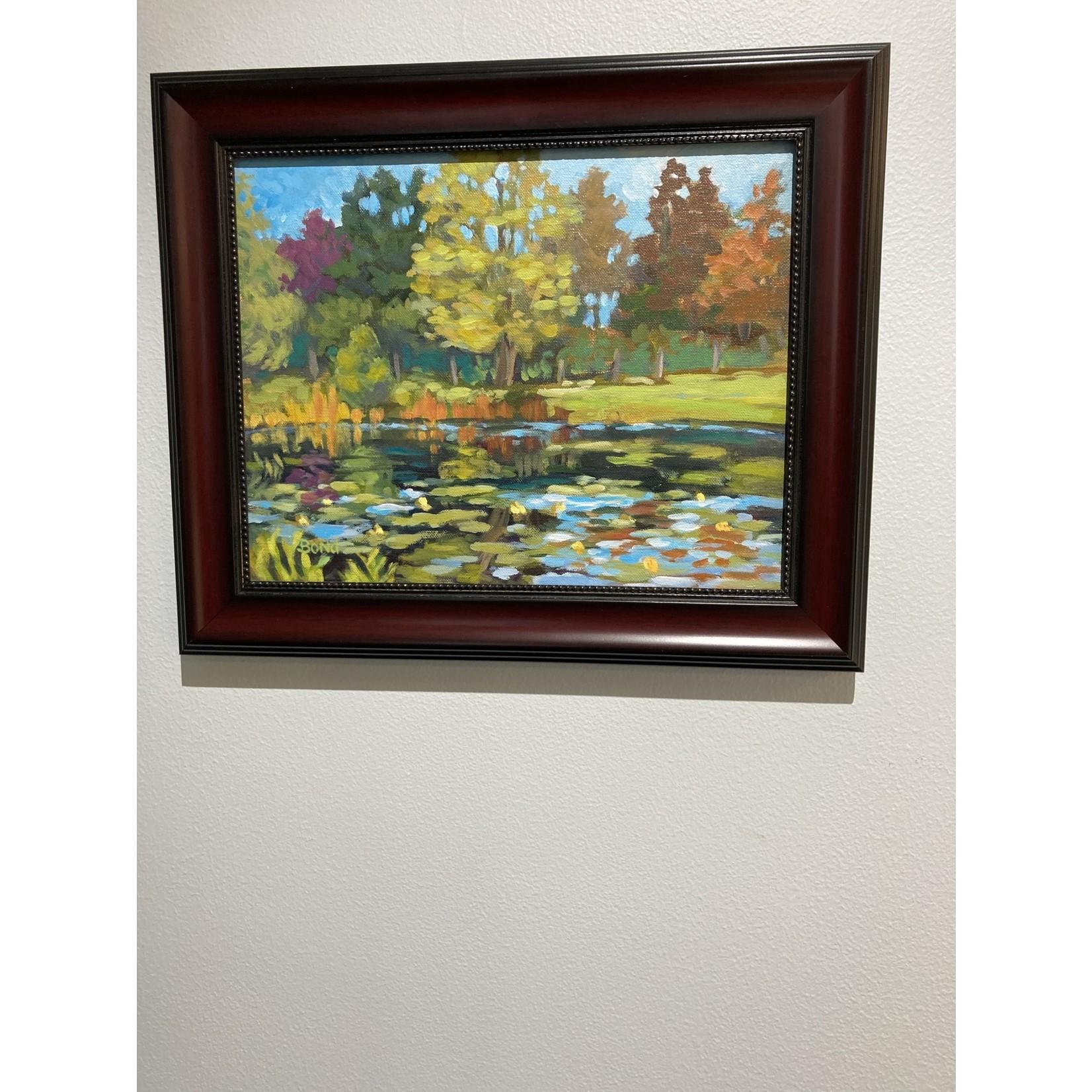 """John J Bond John J Bond Acrylic on Canvas """"Vineyard Pond"""""""