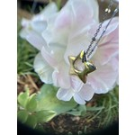 So Me So Me Designs | Star charm, 14k yellow gold and oxidized chain