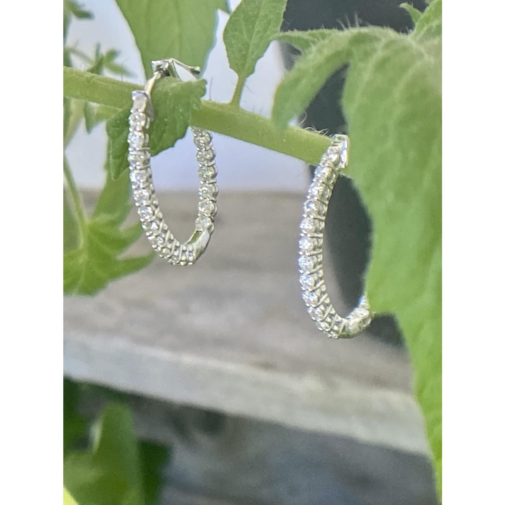 GBC GBC | White gold diamond inside/outside hoop