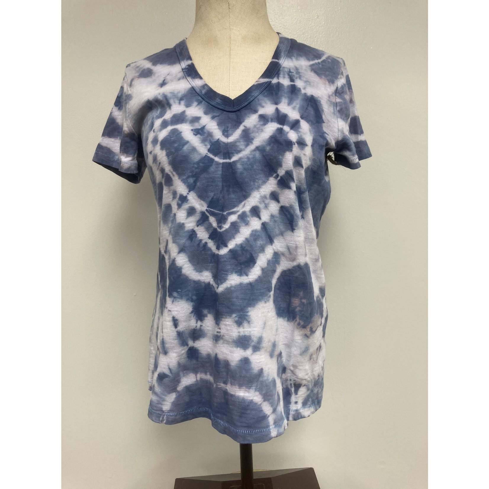 Allie Bonidy Allie B  Blue Heart Tie Dye Tee - XS