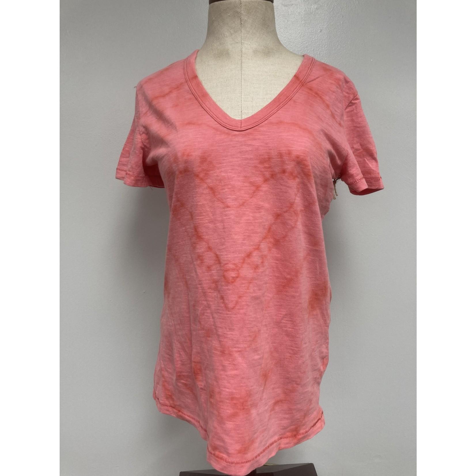 Allie Bonidy Allie B| Red Heart Tie Dye Shirt - S