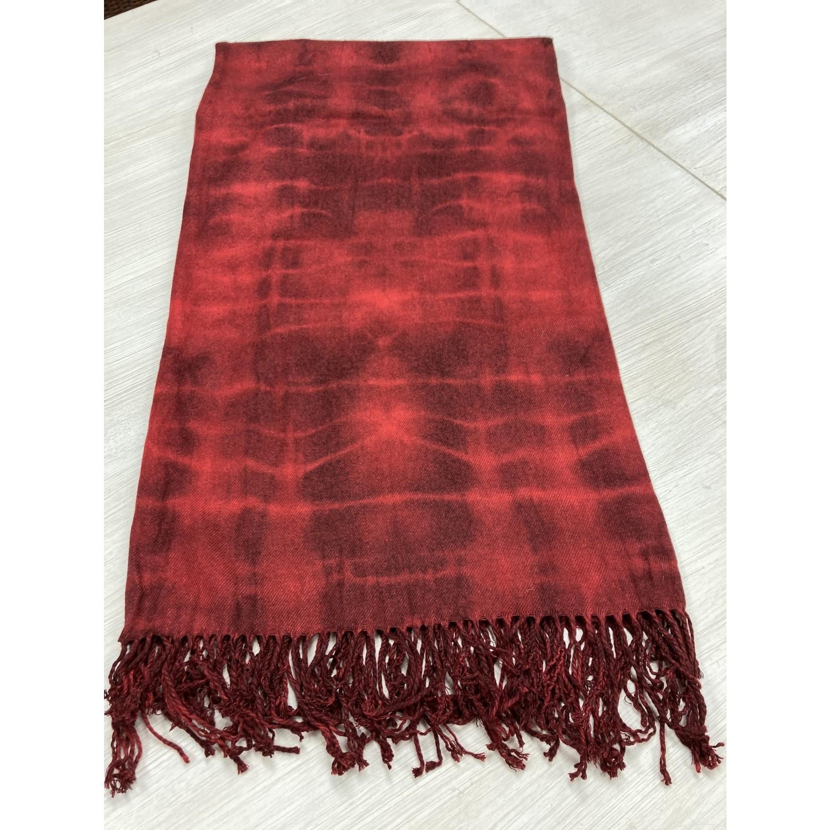 Allie Bonidy Allie B| Red Tie Dye Scarf