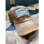 So Me S & J Decor | Pittsburgh Trucker hat - yellow with dark green speckling