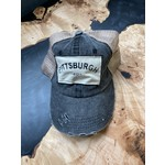 S & J Decor S & J Decor   Pittsburgh Trucker Hat - blue distressed w/beige mesh