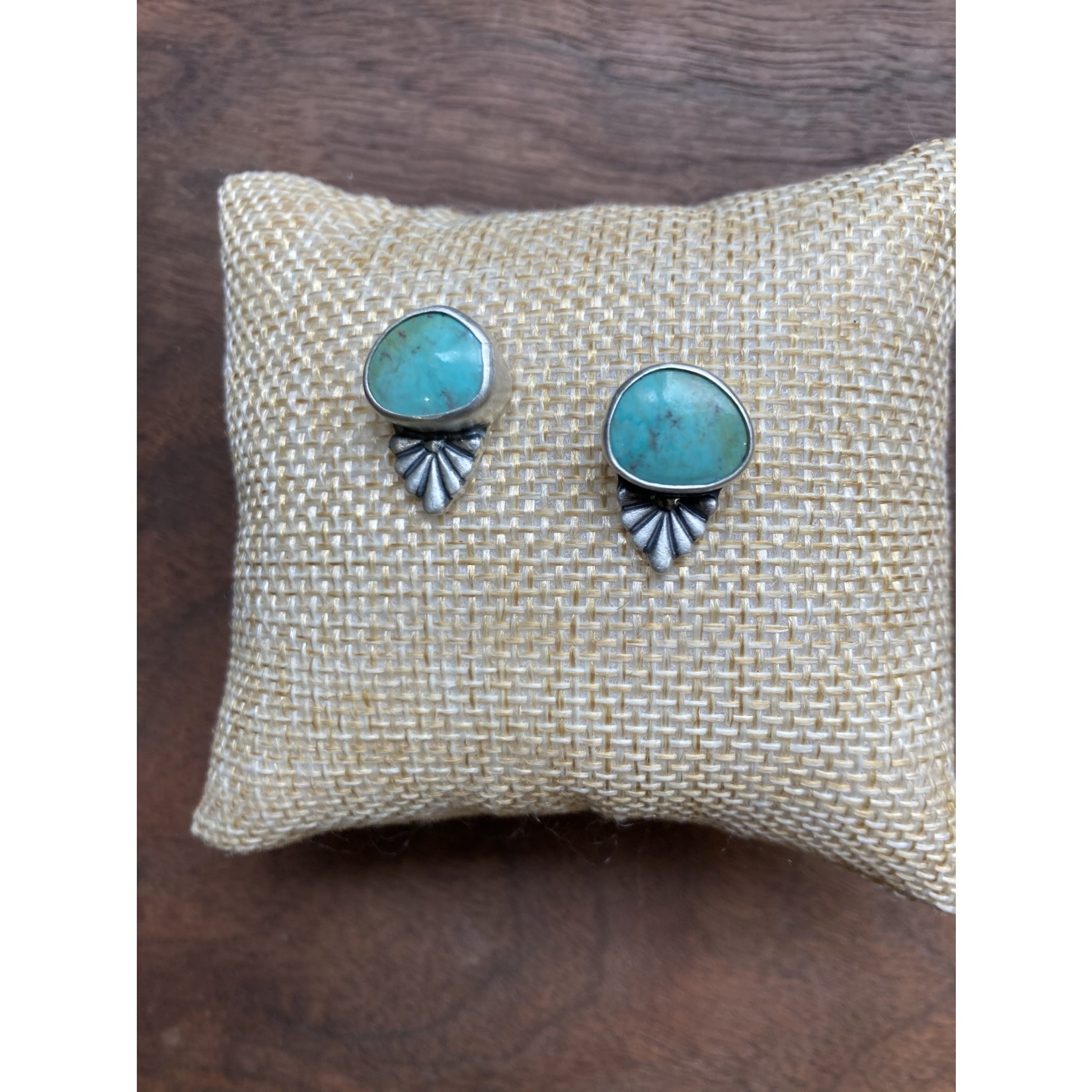 Katherine Thompson Sterling & Stone | Oval Turquoise Earrings