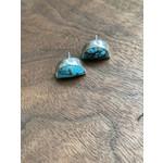 Katherine Thompson Sterling & Stone |  Half Moon Turquoise Earrings