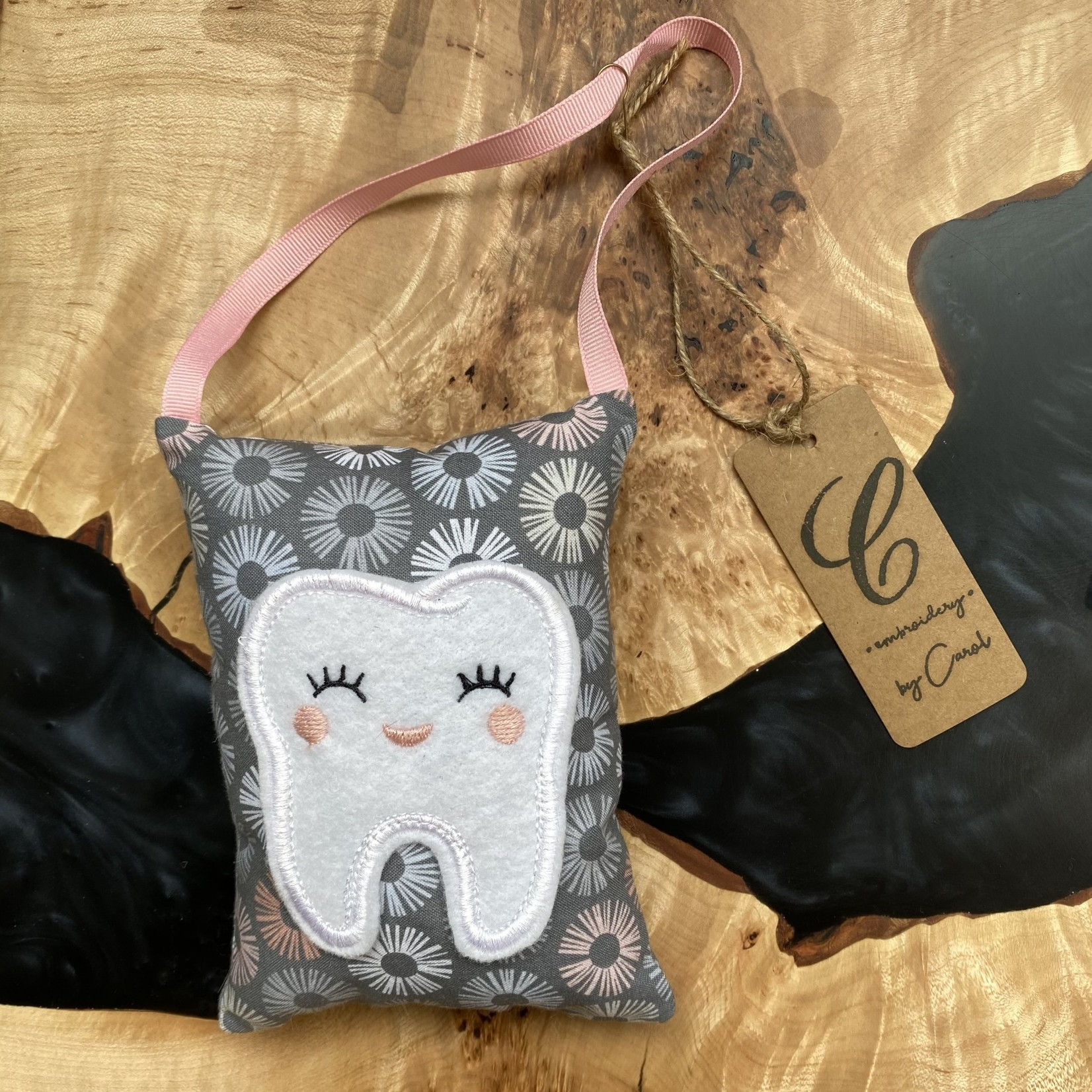 Handmade by Carol Handmade by Carol | Tooth Pillow gray