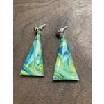 Hannah Wilson Hannah Eli Art | Tie-Dye triangle earrings