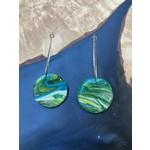Hannah Wilson Hannah Eli Art | Tie dye circle loop earrings