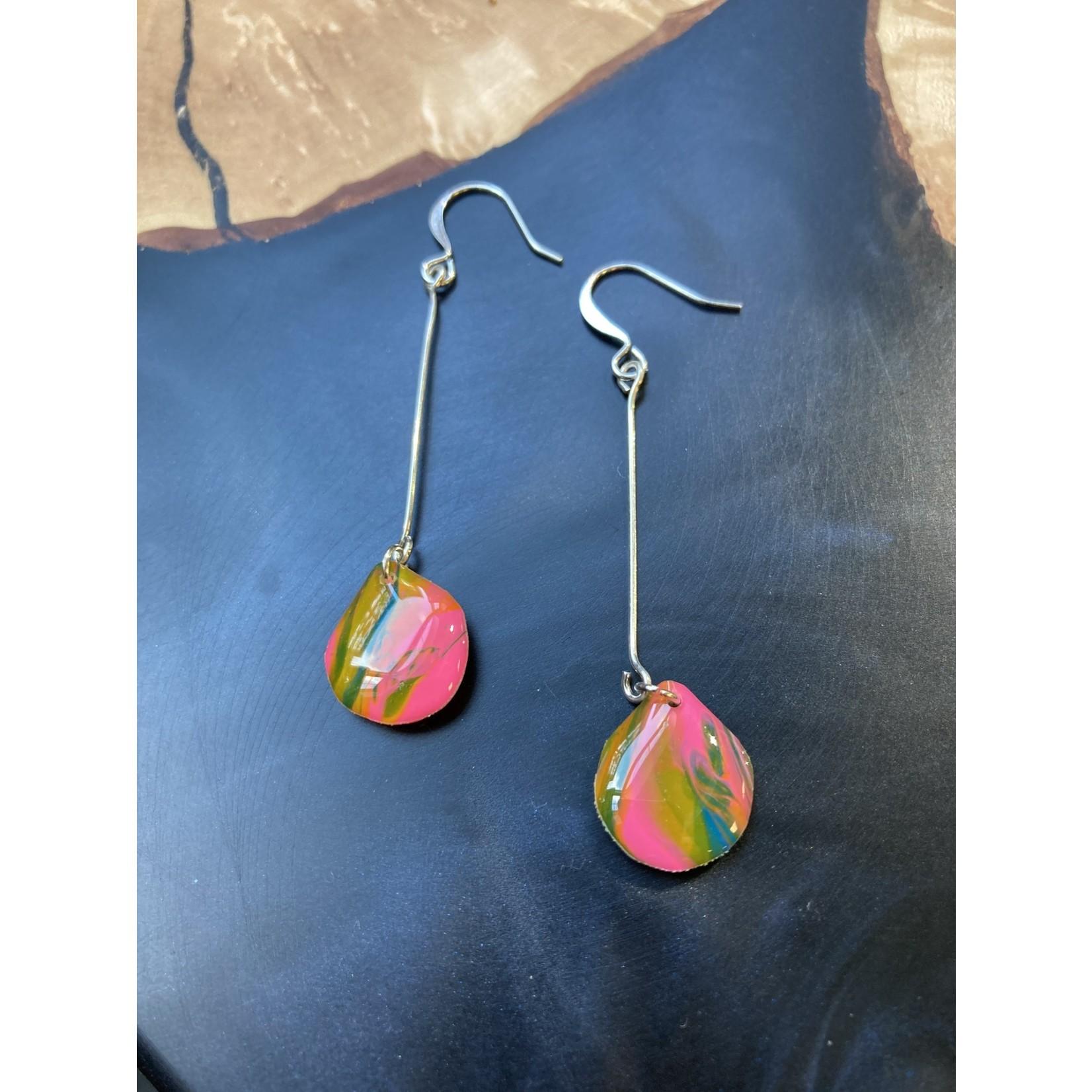 Hannah Wilson Hannah Eli Art   Psychedelic Teardrop earrings