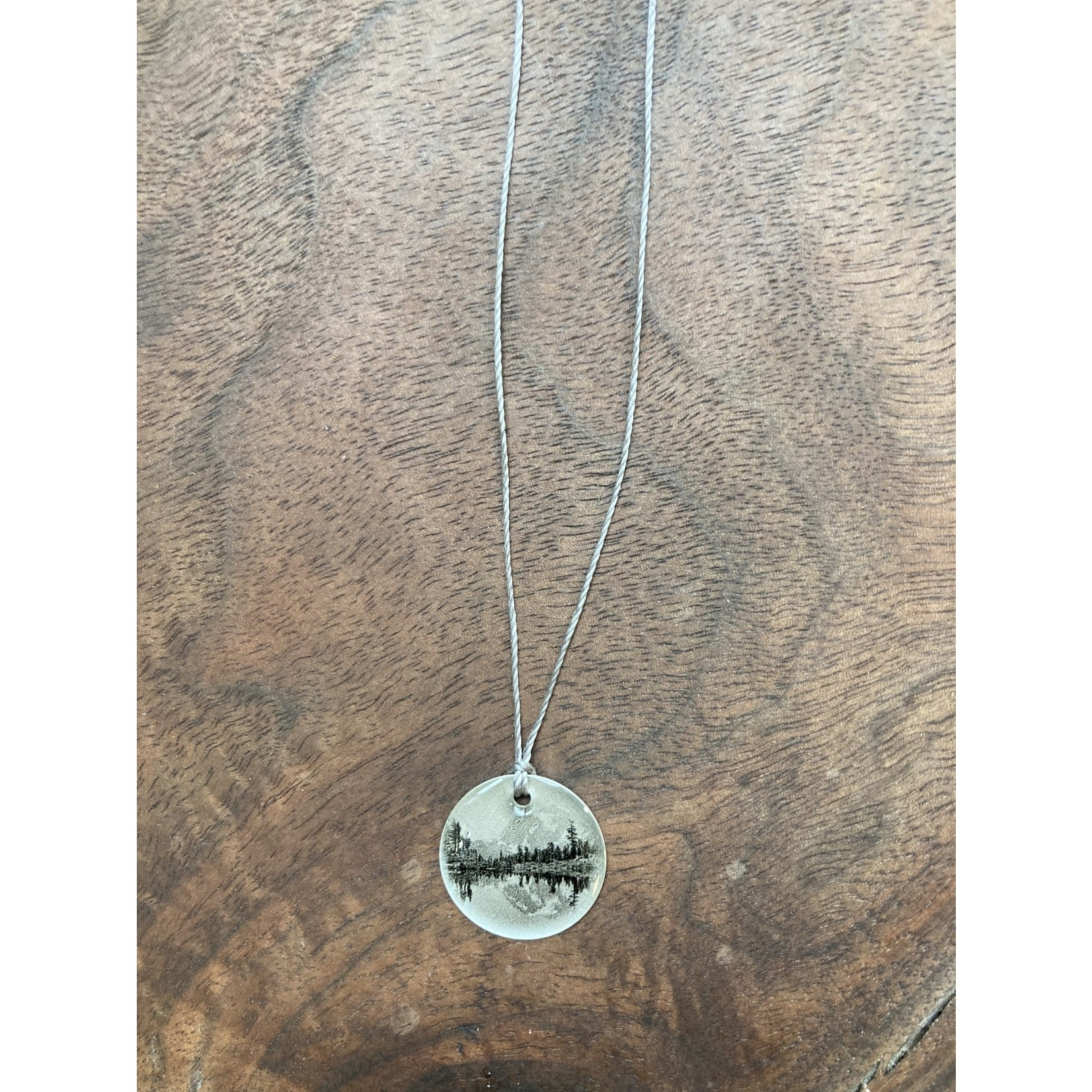 """Everyday Artifacts Everyday Artifacts    Alpine View - 3/4"""" Picture Pendant on Nylon Cord"""