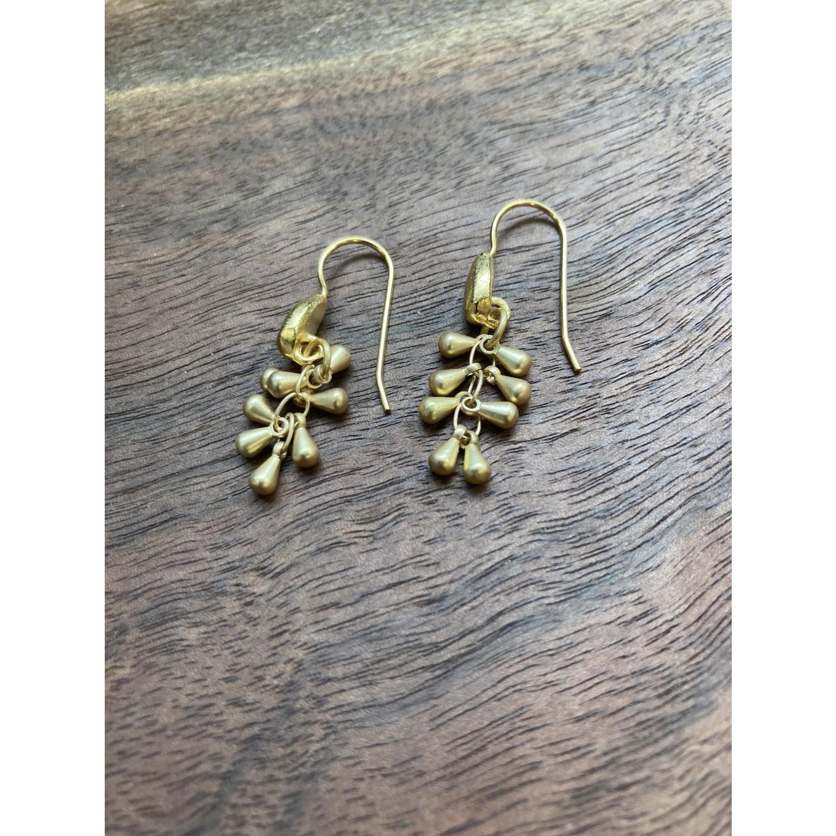 Maureen Oehrle Maureen Oehrle | E21 Matte Gold Short Dangle Drop Earrings