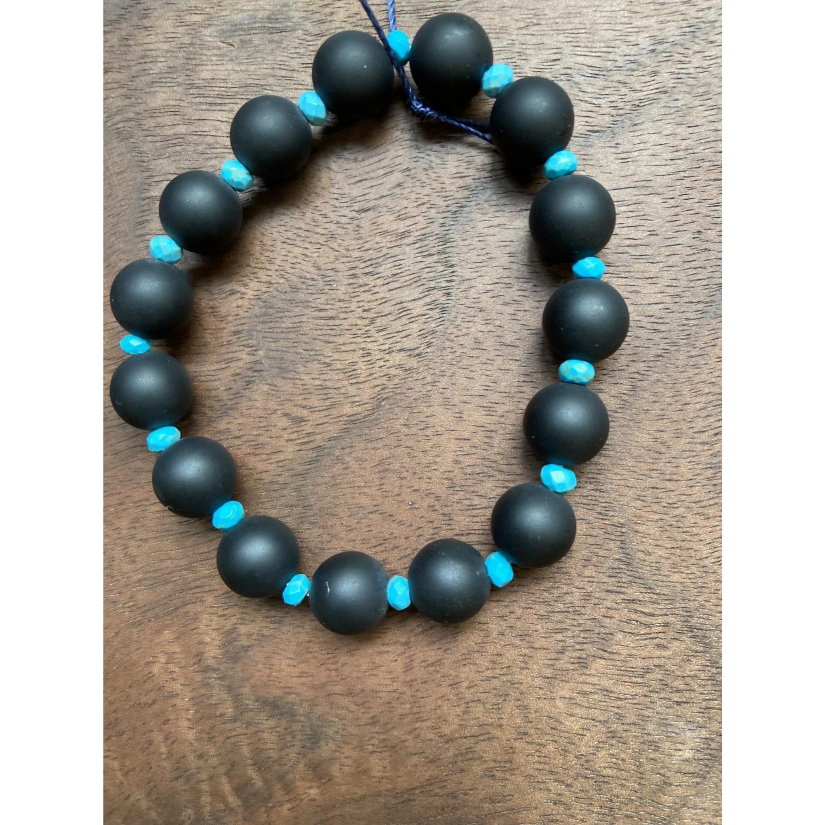 Maureen Oehrle Maureen Oehrle | B24 Black Onyx & Turquoise Bracelet
