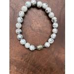 Maureen Oehrle Maureen Oehrle | B29 Sesame Jasper with Hematite Buddha Bead Bracelet