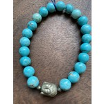 Maureen Oehrle Maureen Oehrle | B28 6-7 Magnesite with Hematite Buddha Bead Bracelet