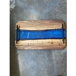 RPM Woodworks RPM Woodworks | Wooden Cheese Board w/Dark Blue Acrylic