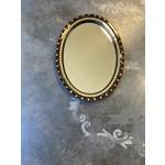 Debbie Constantin Constantin Mosaic Art | Oval Mirror on Antique Base