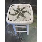 Debbie Constantin Constantin Mosaic Art | Repurposed White Stool