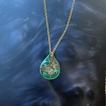 Colleen Hirsh Colleen Hirsh #95 Green butterfly necklace