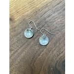 Jeanne Shuff Jeanne Marie Jewelry   #2 SS Disk Earrings w. CZ in Setting