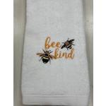 Carol Tarasi Handmade by Carol  Bee Kind Hand Towel