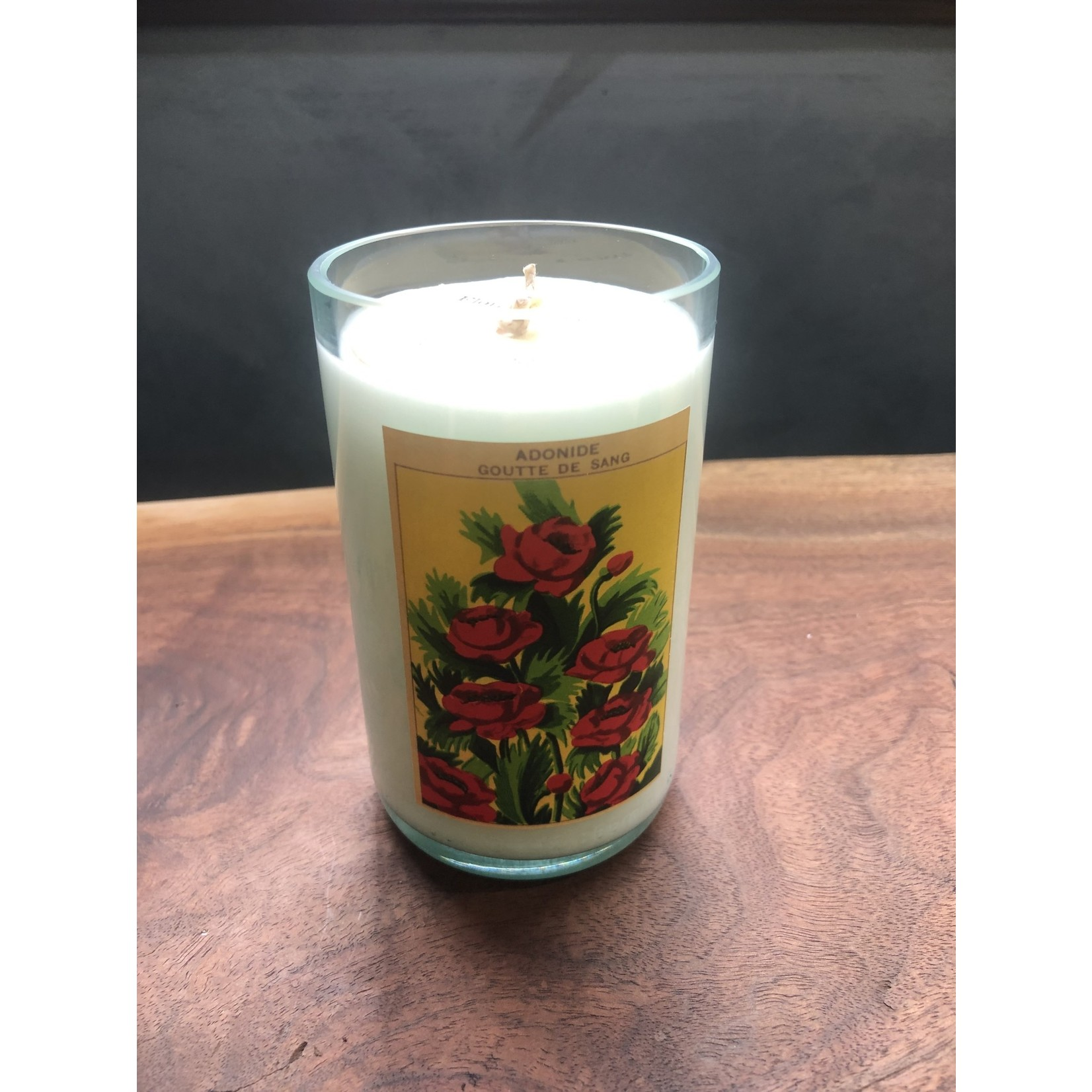 Susan Cowher Candles Uncorked  Vintage seed floral bouquet -Med