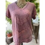 Allie Bonidy Allie B| Pink Heart Tie Dye Shirt - L