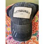 S & J Decor S & J Decor   Pittsburgh Trucker Hat -  412 with black denim and mesh