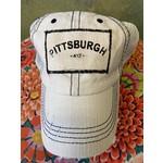 S & J Decor S & J Decor   Pittsburgh Trucker Hat -  412 with white denim & mesh