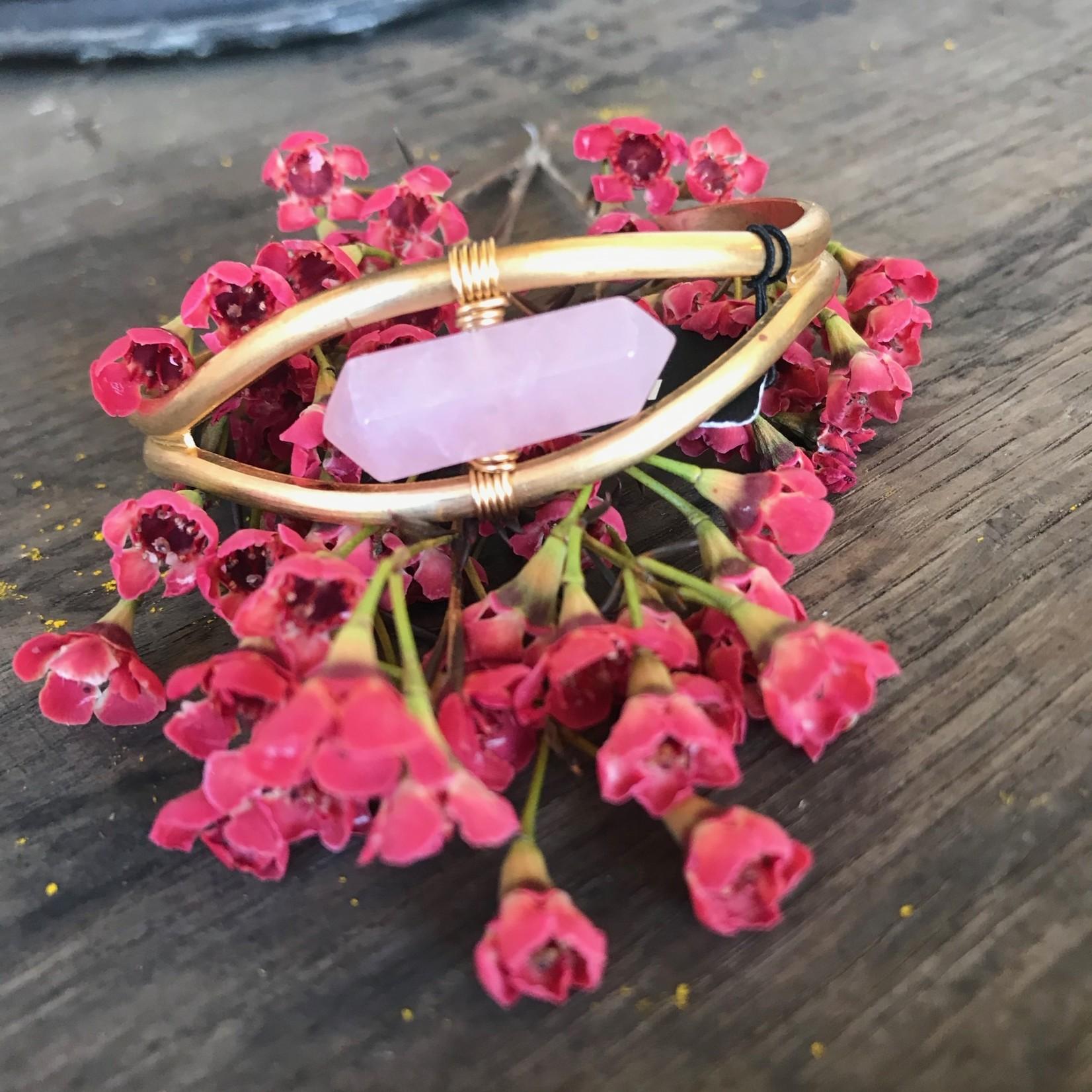 Larissa Loden Larissa Loden Bracelet Rose Quartz Crystal Cuff