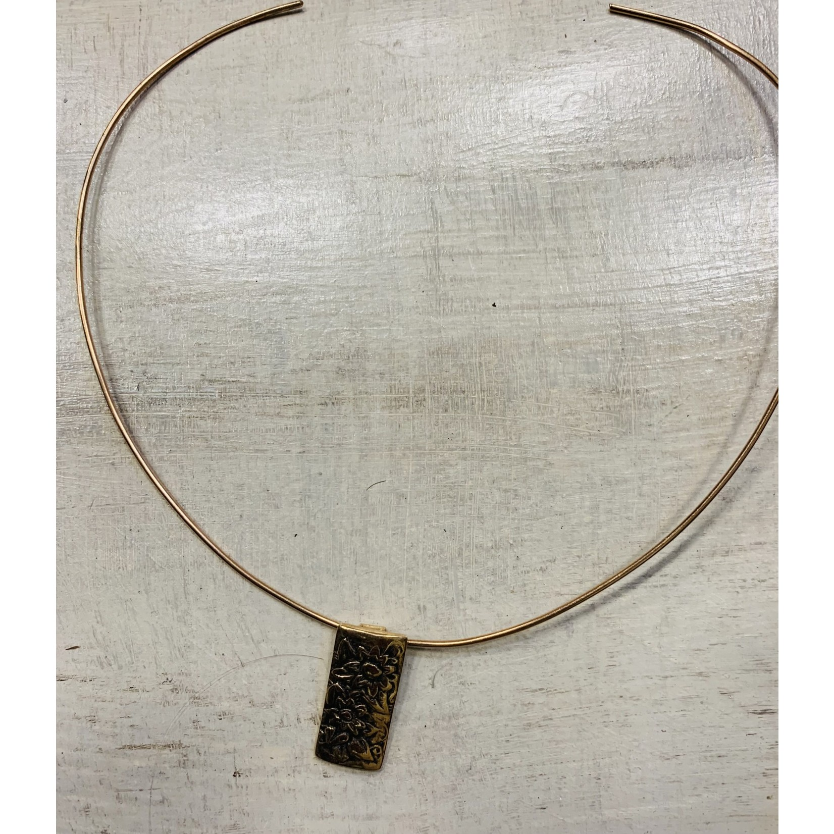 Liz Sabol Liz Sabol Secret Garden pendant on bronze neckwire