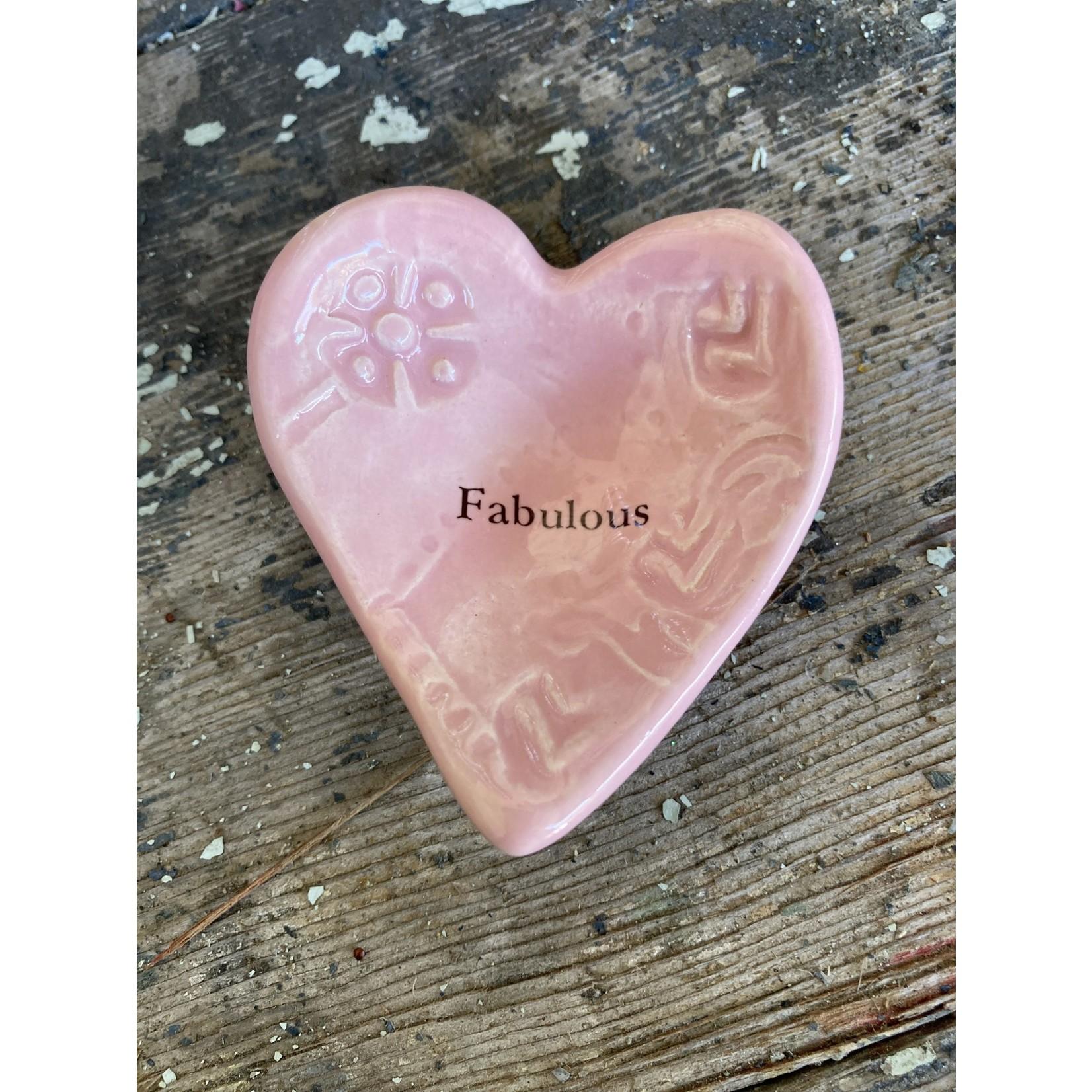 """Lorraine Oerth Lorraine Oerth Heart Bowl - """"fabulous"""" light pink"""