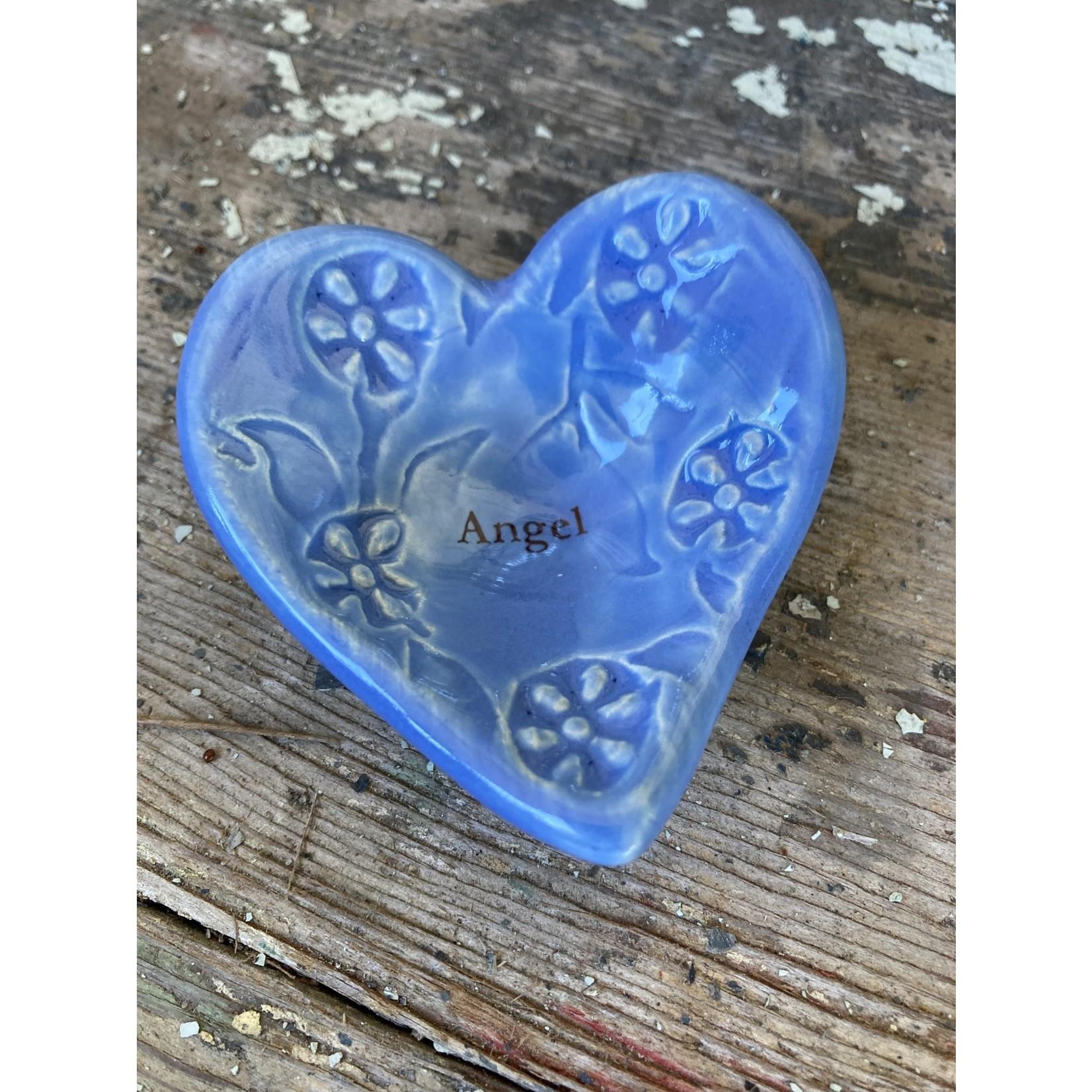 """Lorraine Oerth Lorraine Oerth Heart Bowl - """"angel"""" blue"""