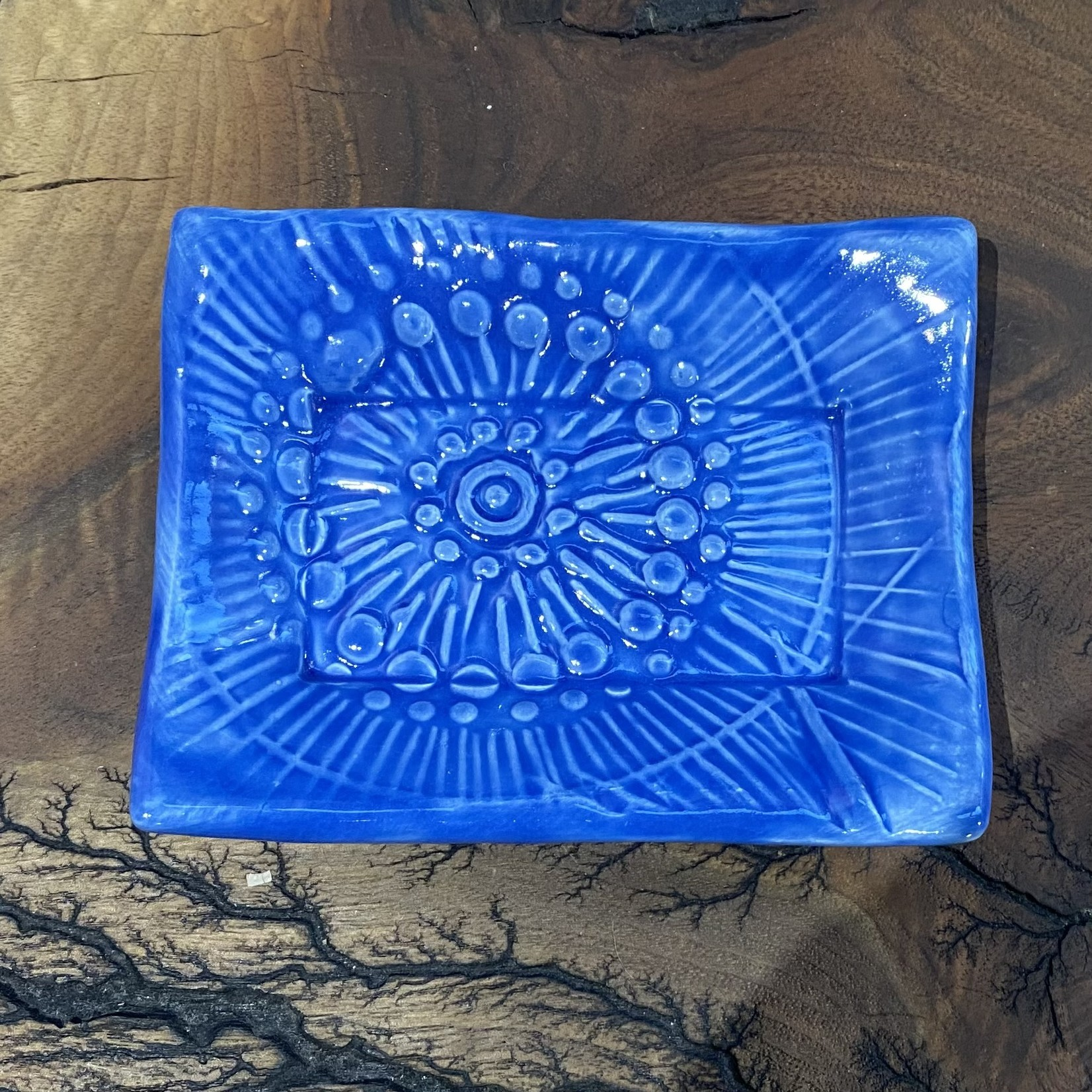 Lorraine Oerth Lorraine Oerth Soap Dish - Floral Fantasy Delft Blue