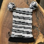 Karen Mangis Karen Mangis | Hat with Black & White Trim with Two Tassels