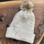Karen Mangis Karen Mangis | Beige Tweed Knit Hat with Tassel