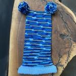 Karen Mangis Karen Mangis | Hat with Blue, Black & White Trim with Two Tassels