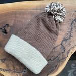 Karen Mangis Karen Mangis | Brown & Tan Knit Hat with Tassel