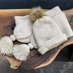 Karen Mangis Karen Mangis | Cream Hat & Scarf