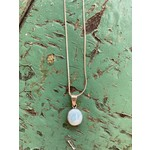 Colleen Hirsh Colleen Hirsh #132 Sterling Silver Larimar Circle Stone necklace
